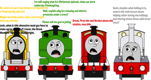 TTTE - Arguing about a Thanksgiving episode by Percyfan94