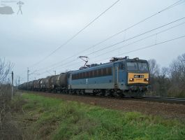 V63 015 with goods train between Abda and Gyor by morpheus880223
