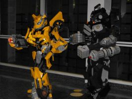 Bumblebee and Ironhide Cosplay by SuperSonicHero10