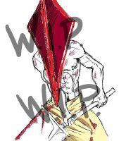 Pyramid Head -WIP- by Jrockheaven