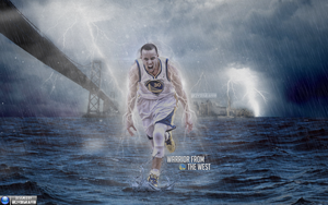 Stephen Curry | Warrior From West | Wallpaper by ClydeGraffix