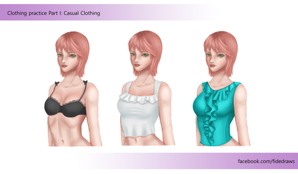 Clothing practice Part I by Architeuthis-Senpai