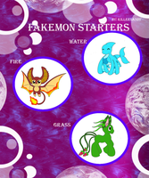 Fakemon starters meme by nocturneLight