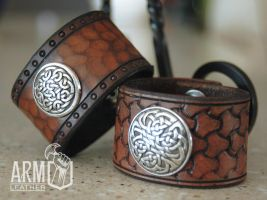 Wrist Cuffs by Blackthornleather