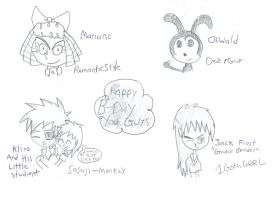 Happy B-Days Gifts In Sketches by Rise-Of-Majora