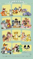 Furry love stickers pack by pandapaco