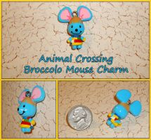 Animal Crossing - Broccolo Mouse Charm - Handmade by YellerCrakka