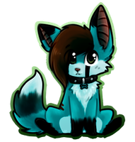 Blue Chibi by Bleu-Foxx