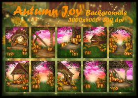 Autumn Joy background by KlaraKay
