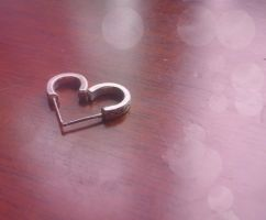 Earring Heart by Recreating-life