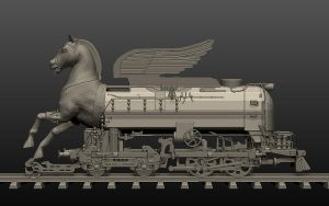 Trojan steam locomotive by tesherr