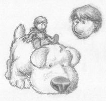Little Guy and Big Dog by Captain-D