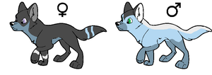 Pups for Silverclaw6 by vega37