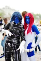 Mystique and Nightcrawler by Hidory