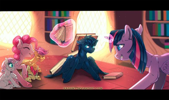 Commission - Library by ka-samy
