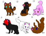 +_Adoptable wolves_+ by melissa03