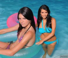 Kendall and Kim water by lowerrider