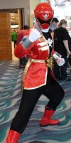 Gokai Red from Gokaiger at LB Comic Con 2013 by trivto
