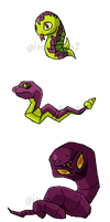 Pokemon Snakes WWS by the19thGinny