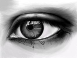 Eye (unfinished) by ScribblingDes