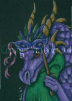 Mardi Gras Dragon ACEO by The-GoblinQueen