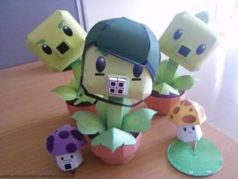 Plants Vs Zombies Papercraft Toy by mayainpaper