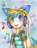 Art Trade: Listening to Music by yamieggman