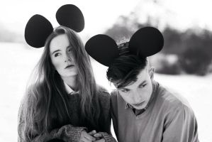 Minnie and Mickey Mouse by lostintheuniverse