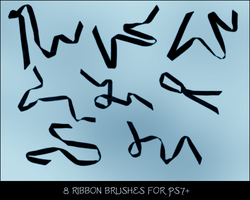 Ribbons Brush Set by selenart-stock