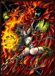 Witchblade vs Spawn by Candra