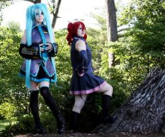 Miku and Teto 2 -Cosplay Photoshoot- by MikuMikuJinx