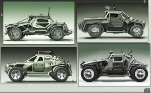 Vehicle sketches by spidermc