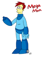 Mega Man, Simpsons Style by EvanPearTree