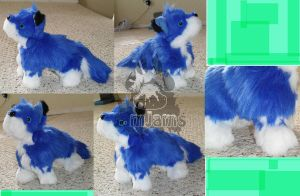 raidenhusky mini plush commission by JamJams