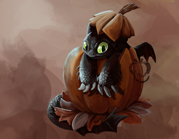 Toothless- Pumpkin by Appletail