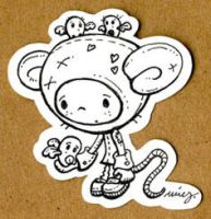 sad mouse_sticker by rosakatze