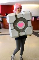 Companion Cube Cosplay by LuckyCat42