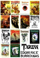 Tarzan by Edgar Rice Burroughs Collage Part 2 by StevenEly
