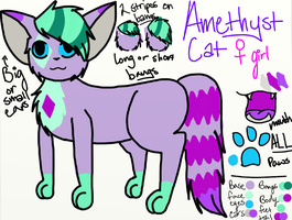 Amethyst Reference Sheet by MintIeafs