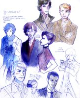 Sherlock Sketch Dump by fluffy-fuzzy-ears