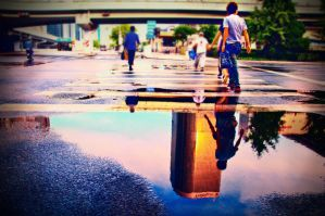 Reflection after the rain by sunny2011bj