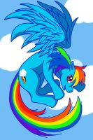 Rainbow Dash by DogDemonsRock5