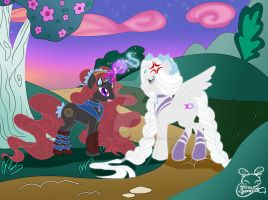 BSSMxMLP-Sailor Artemis+Hecate: A Day in Equestria by NemoTurunen