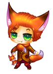 Fox Gijinka Chibi by Kattling
