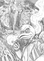 Howard and Man-Thing by gadgetwk