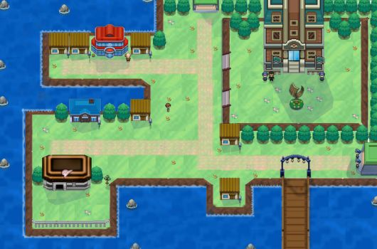 vermillion city remake / pokemon royal blue by pimmermen