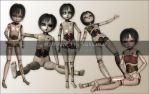 BJD Pack 3 - Disturbed by joannastar-stock