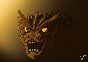 Young Smaug by DevilAntRat