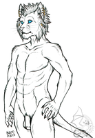 Khajiit in the Nude by kcravenyote