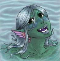 Ruu the Mermaid girl by Doodlebotbop
